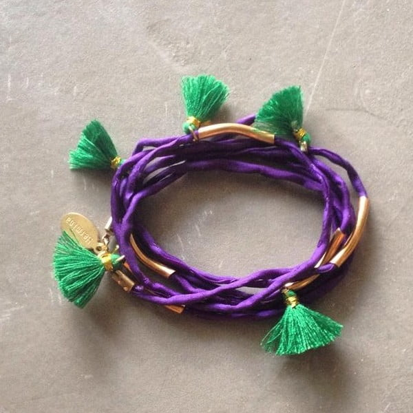 Długi naszyjnik/bransoletka Kasbah Purple