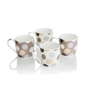 Komplet 4 porcelanowych kubków Cobble