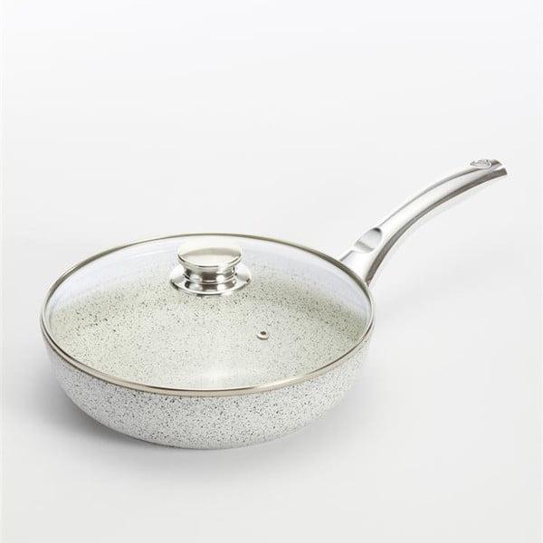 Patelnia z przykrywką i srebrną rączką Bisetti Stonewhite, 24 cm