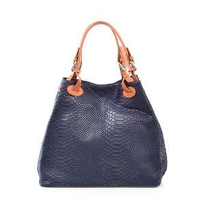 Skórzana torebka Ingrid, niebieska