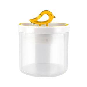 Przezroczysty pojemnik z żółtym detalem Vialli Design Livio, 0,4 l