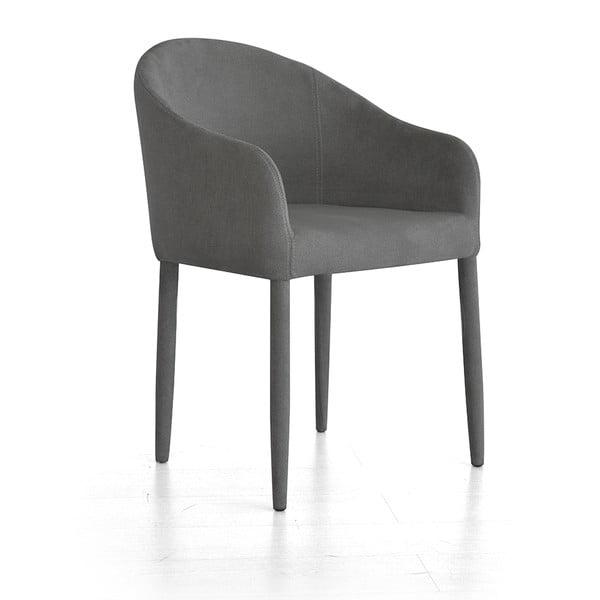 Krzesło z podłokietnikami Larice, szare