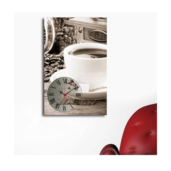 Obraz z zegarem Filiżanka