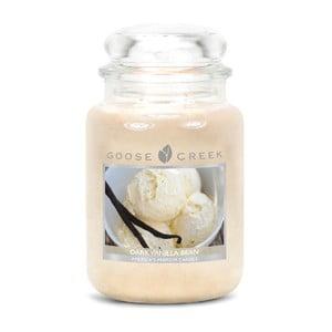 Świeczka zapachowa w szklanym pojemniku Goose Creek Laska wanilii, 0,68 kg