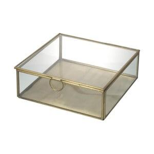 Szklany pojemnik Parlane Gold, 19 cm
