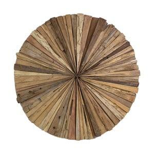 Dekoracja ścienna z drewna tekowego HSM Collection Roude, 60 cm
