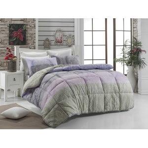Narzuta pikowana na łóżko jednoosobowe Newdamask Lila, 155x215 cm