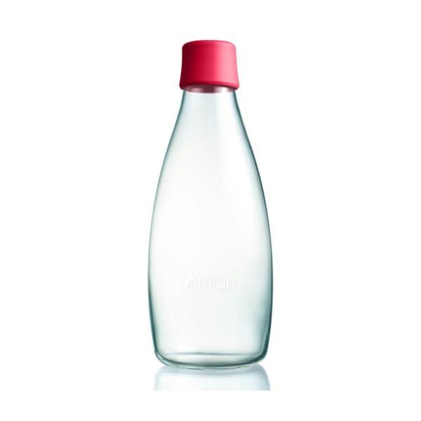 Malinowa butelka ze szkła ReTap z dożywotnią gwarancją, 800 ml