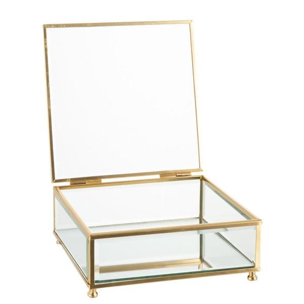Szklana szkatułka J-Line Gold, 15x6 cm