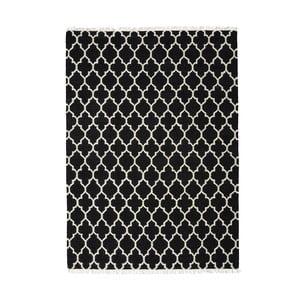 Wełniany dywan Arifa Black, 140x200 cm