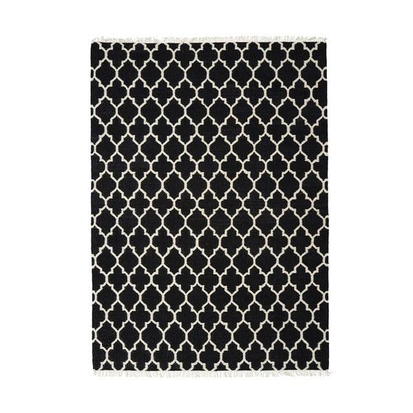 Wełniany dywan Arifa Black, 200x300 cm