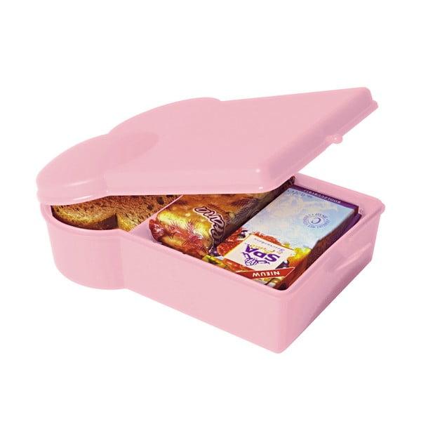 Jasnoróżowy pojemnik na przkąskę PT Kitchen Lunchbox