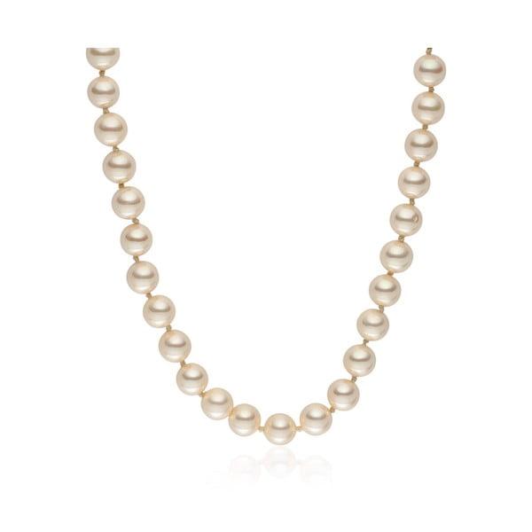 Jasnożółty   naszyjnik z pereł Pearls of London Mystic, 45 cm