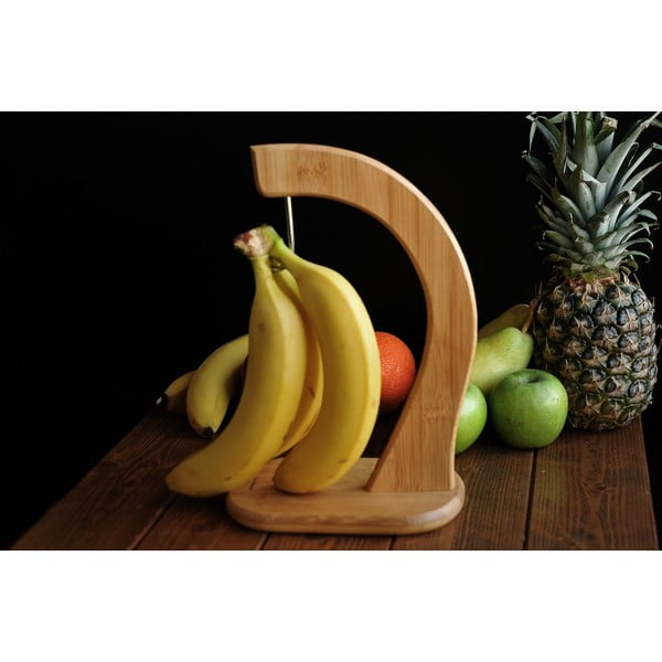 Stojak na banany z bambusu Bambum Latano, 28x12 cm