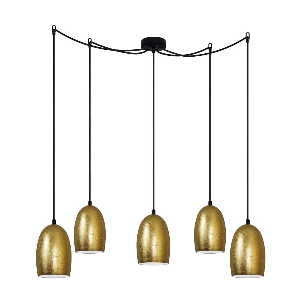 Lampa wisząca w kolorze złota Sotto Luce UME Elementary 5S