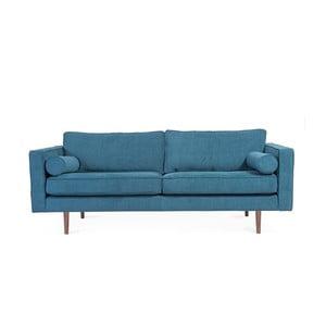 Niebieska sofa trzyosobowa Charlie Pommier Cavalier