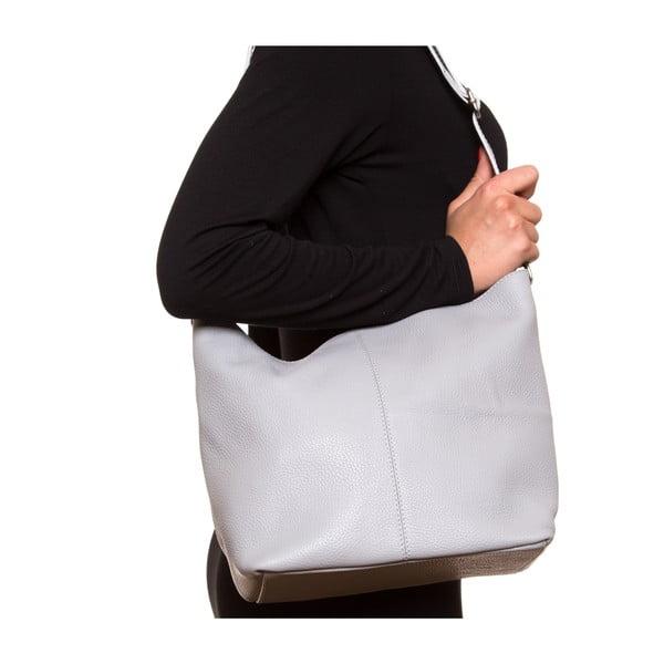 Skórzana torebka Luisa Vanini 1029, szara