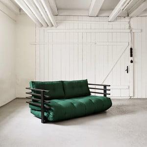 Sofa rozkładana dwuosobowa Karup Funk Black/Botella