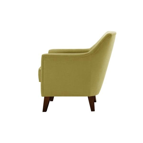 Żółty fotel Jalouse Maison Kylie