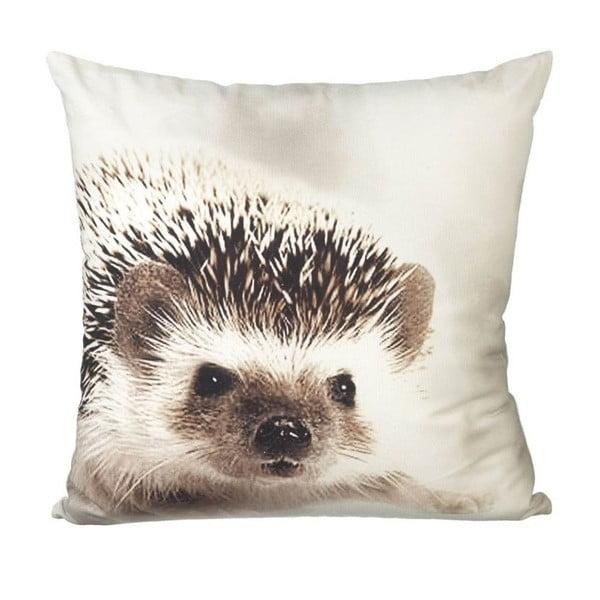 Poduszka Hedgehog White/Brown, 45x45 cm