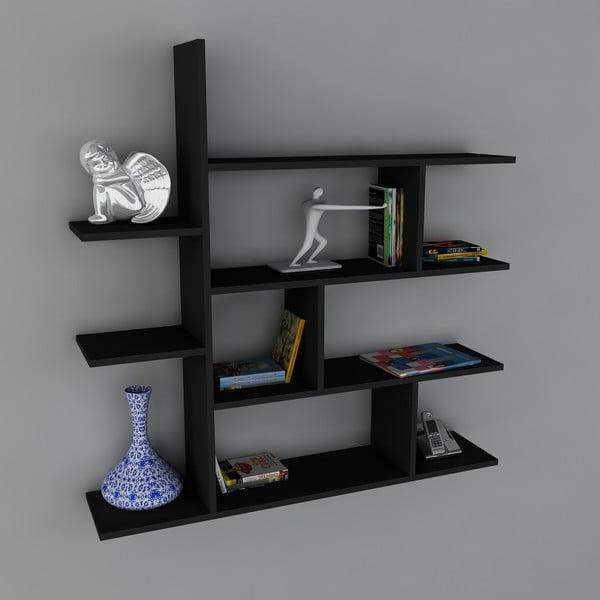 Półka Motif Book Black, 22x120x121,8 cm