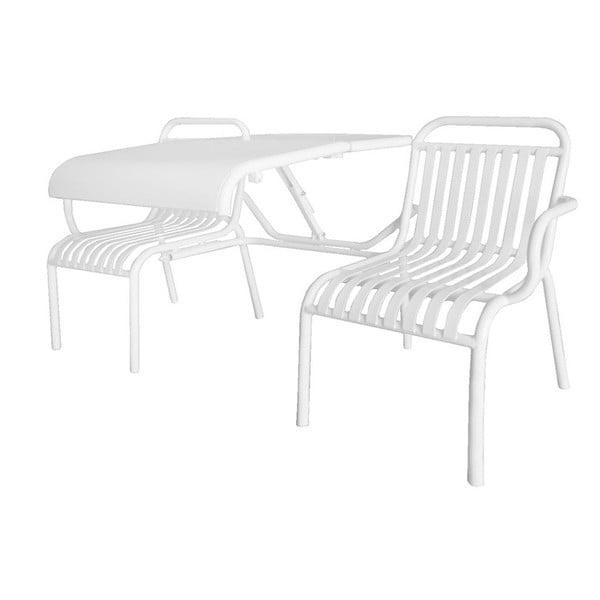 Metalowa ławka ze stolikiem Garden