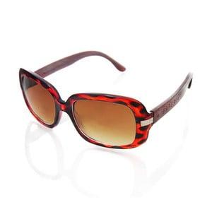 Drewniane okulary przeciwsłoneczne Pebble Red
