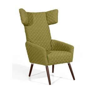 Zielony fotel Max Winzer Elina