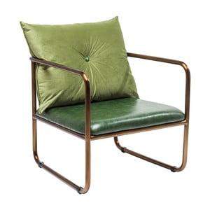 Zielony fotel Kare Design Theo