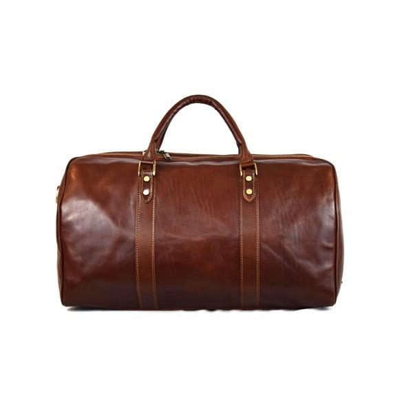 Skórzana torba Santo Croce VL979 Brown