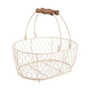 Biały koszyk metalowy T&G Woodware Provence,29x21cm