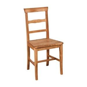 Ciemnobrązowe krzesło z litego drewna bukowego Addy