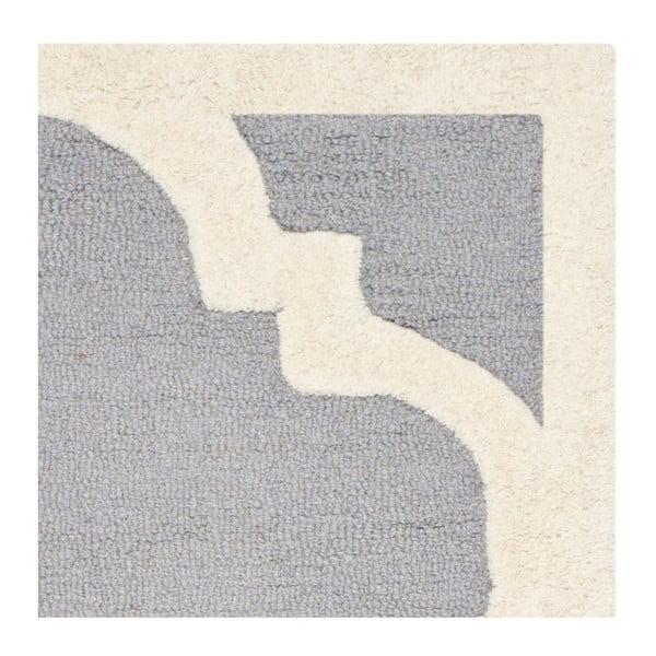 Wełniany dywan Clark Grey, 91x152 cm