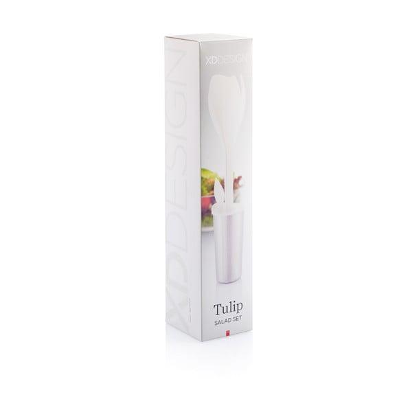 Białe akcesoria do sałatek XD Design Tulip