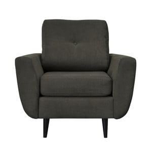 Ciemnoszary fotel z ciemnymi nogami Mazzini Sofas Cedar