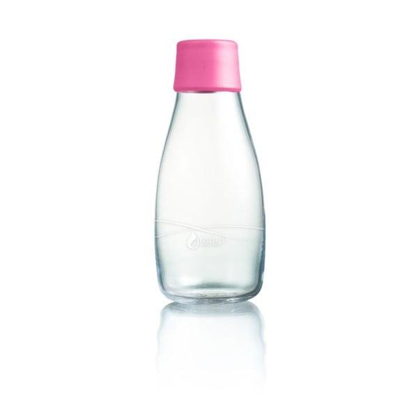 Jasnoróżowa butelka ze szkła ReTap z dożywotnią gwarancją, 300 ml
