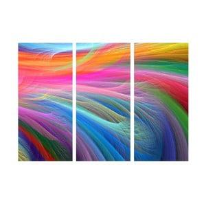 Trzyczęściowy obraz Kolorowe włókna