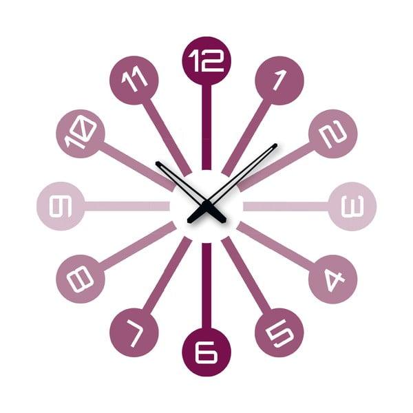 Samoprzylepny zegar Fioletowe numery