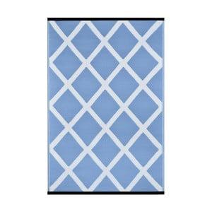 Niebiesko-biały dwustronny dywan zewnętrzny Green Decore Silenco, 120x180 cm
