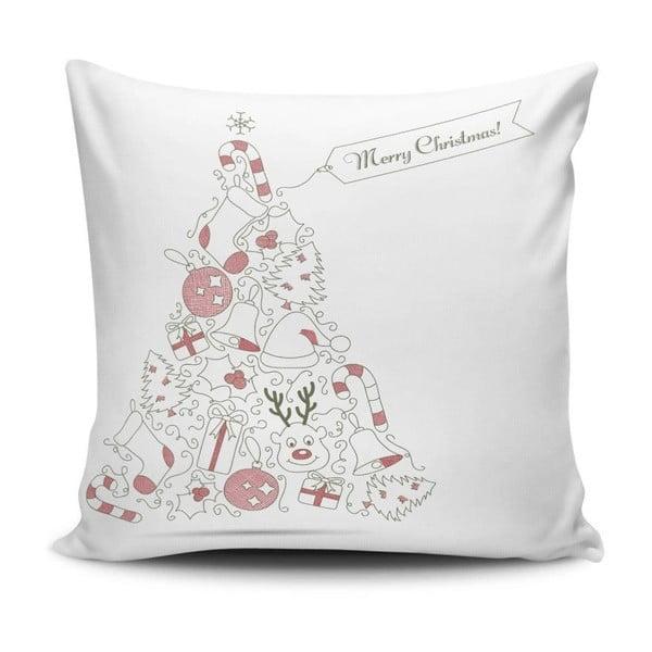Biała poduszka Christmas,45x45cm