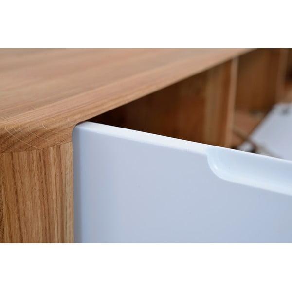 Dębowy stolik pod TV Gazzda Ena, 180 x 42 x 45 cm