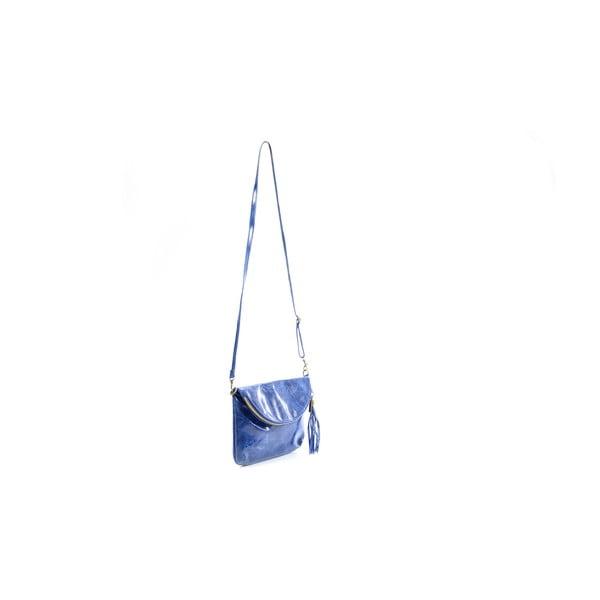 Skórzana torebka Tina, niebieska