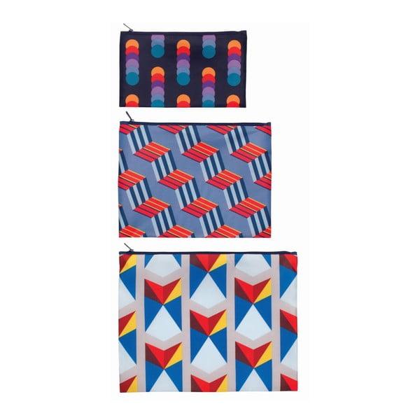 Komplet 3 uniwersalnych kieszonek Geometric