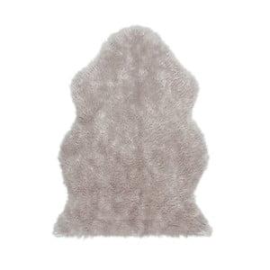 Szary dywan z ekologicznego futra Eko Rugs Tekli, 70x100cm