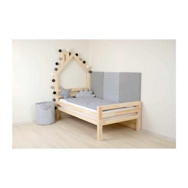 Łóżko dziecięce z naturalnego drewna świerkowego Benlemi Wally,80x160cm