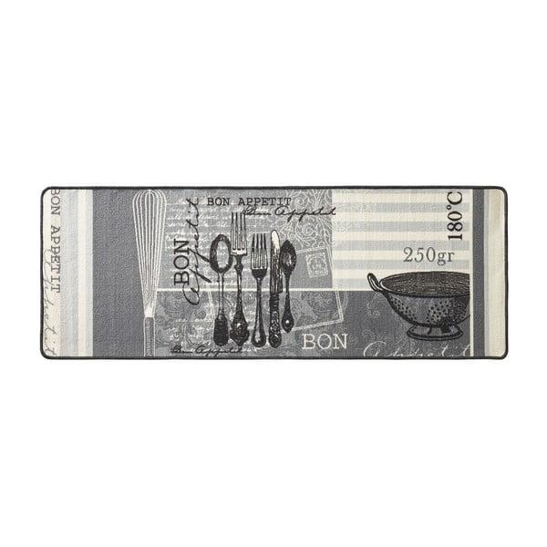 Szary dywan do kuchni HanseHomeAppetit, 67x180cm