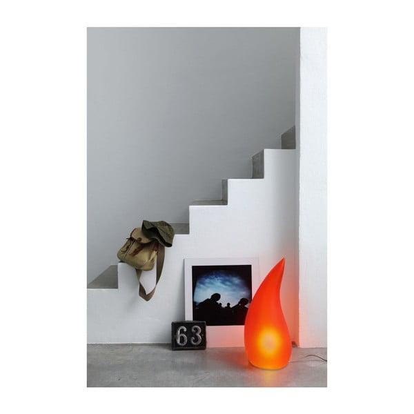 Lampa stołowa Fiammella, czerwona