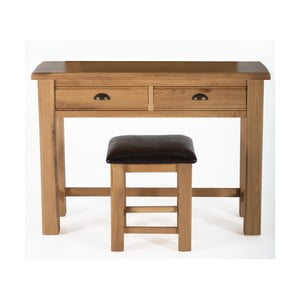 Toaletka i stołek z drewna dębowego VIDA Living Breeze