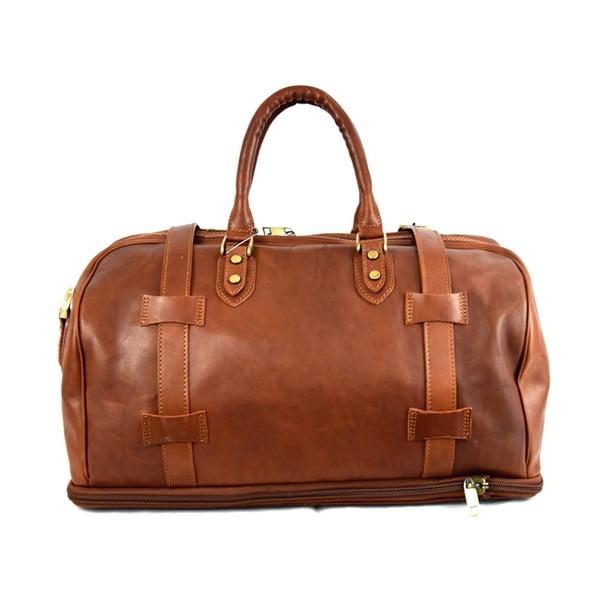 Skórzana torba Santo Croce 82978bis Brown