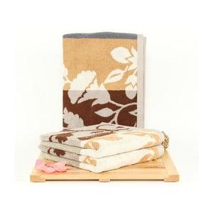 Zestaw 3 ręczników Fenja Ivory, 50x100 cm